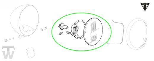 Hauptscheinwerfer Reflektor Thruxton EFI