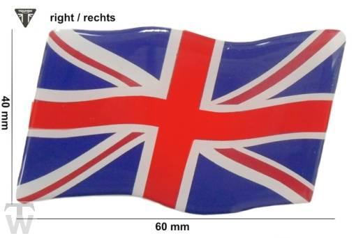 Triumph Union Jack 3D Aufkleber rechts (dynamische Flagge) - Accessoires