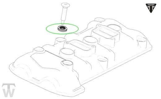 Ventildeckel Schraubendichtung Twin Lip (braun) (Details)