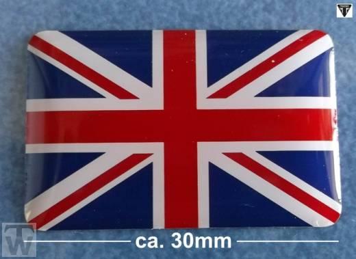Triumph Union Jack 3D Aufkleber (statische Flagge) - Accessoires