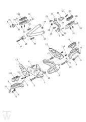 Fussrasten - Scrambler 1200 XC