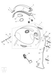 Benzintank - Scrambler 1200 XC