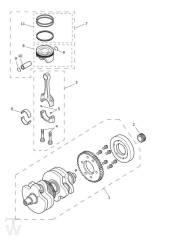 Kurbelwelle Pleuel Kolben - Scrambler 1200 XC