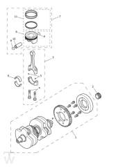 Kurbelwelle Pleuel Kolben - Scrambler 1200 XE