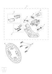 Hinterrad Bremssattel Bremsscheibe - Scrambler 1200 XE