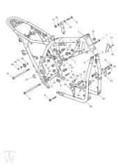 Hauptrahmen - Scrambler 1200 XE