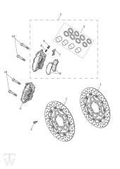 Vorderrad Bremssattel Bremsscheiben - Explorer XRT