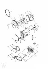Motordeckel 3Zylinder Silber bis FIN004901 - Trophy bis Fin29155
