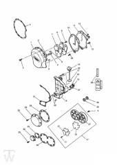 Motordeckel 3Zylinder Grau ab FIN004902 - Trophy bis Fin29155