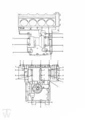 Motorgehäuse Schrauben 4Zylinder bis FIN012657 - Trophy bis Fin29155