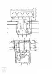 Motorgehäuse Schrauben 4Zylinder ab FIN012658 - Trophy bis Fin29155