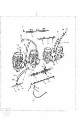 Vergaser 4Zylinder - Trophy bis Fin29155
