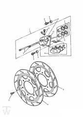 Vorderrad Bremssattel 3Zylinder bis FIN009082 - Trophy bis Fin29155
