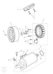 Anlasser Lichtmaschine ab Motor 612714 (nicht 613308-613370) - Tiger 800 XC