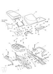 Heckverkleidung Sitze - Tiger 800 XC
