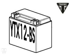 Batterie (YTX12-BS) (MF - wartungsfrei) Speed Triple 1050 bis FIN333178