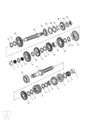Getriebe - Speed Triple 1050 ab FIN333179