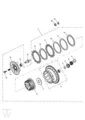 Kupplung - Speed Triple 1050 ab FIN333179
