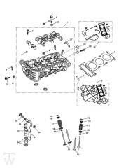 Zylinderkopf Ventile - Speed Triple 1050 ab FIN333179