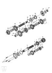 Getriebe bis Motor330118 - Street Triple bis FIN560476