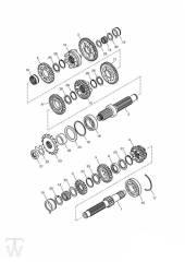 Getriebe bis Motor179828 - America Vergaser