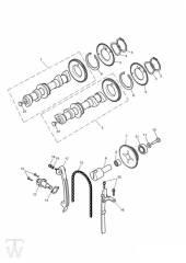 Nockenwelle Steuerkette ab Motor186917 - America Vergaser