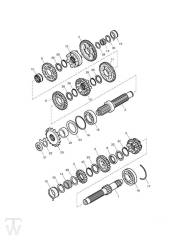 Getriebe - Bonneville EFI bis FIN380776