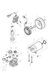 Anlasser Lichtmaschine - Bonneville EFI bis FIN380776