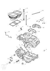 Motorgehäuse - Bonneville EFI bis FIN380776
