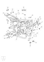 Hauptrahmen - Bonneville EFI bis FIN380776