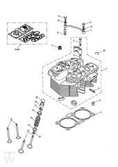 Zylinderkopf - Bonneville EFI bis FIN380776