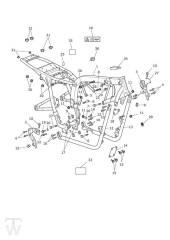 Hauptrahmen ohne Motorschutz - Bonneville & SE ab FIN380777
