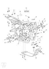 Hauptrahmen mit Motorschutz - Bonneville & SE ab FIN380777