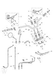 Lenker Schalter - Bonneville & SE ab FIN380777
