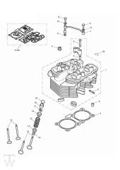 Zylinderkopf - Bonneville & SE ab FIN380777