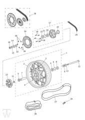 Hinterrad - Bonneville T100 LC