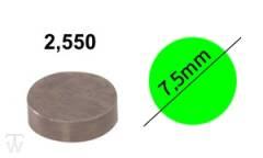 Ventilshim, 2.550 MM
