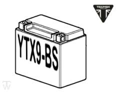 Batterie (YTX9-BS) (MF - wartungsfrei) Bobber Black