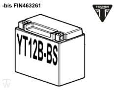 Batterie (YT12B-BS) (MF - wartungsfrei) Bonneville EFI bis FIN380776