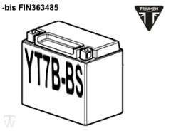Batterie (YT7B-BS) (nur bis FIN363485) Daytona 675 bis FIN381274