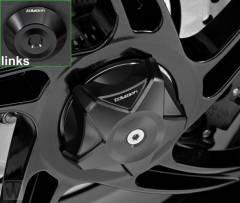 Achsabdeckung Hinterrad schwarz Speed Triple 1050 bis FIN333178