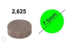 Ventilshim, 2.625 MM
