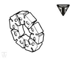 Ruckdämpfer Hinterrad Thruxton EFI