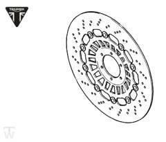 Bremsscheibe Speed Triple T509 bis FIN141871