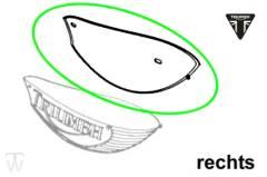 Tanklogodichtung Eyebrow rechts Speedmaster Vergaser Versionen