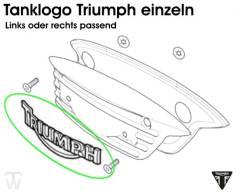 Tanklogoplakette Triumph Scrambler Vergaser
