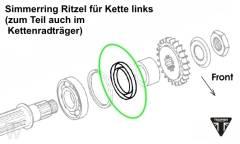 Simmerring Ritzel (40x62x6) Daytona T595 / 955i