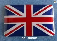Union Jack 3D Aufkleber (statische Flagge) Daytona 750 & 1000