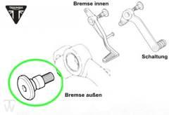 Bolzen Fussbremshebel / Schalthebel Sprint RS 955 ab FIN139277