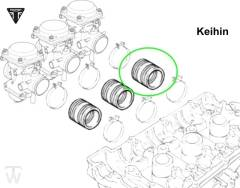 intake rubber Keihin (carburator to cylinder head) (Details)